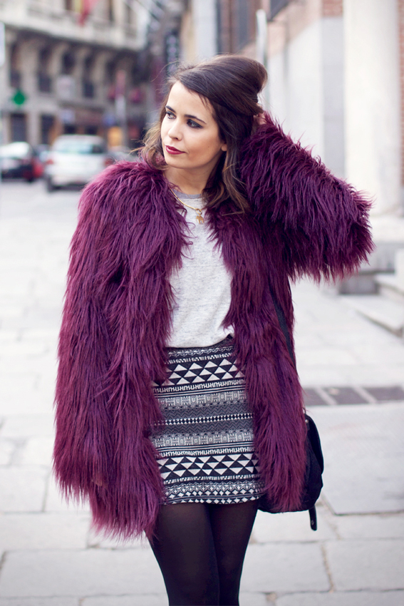 Aztec_Skirt-Purple_Fur-Outfit-Street_Style-