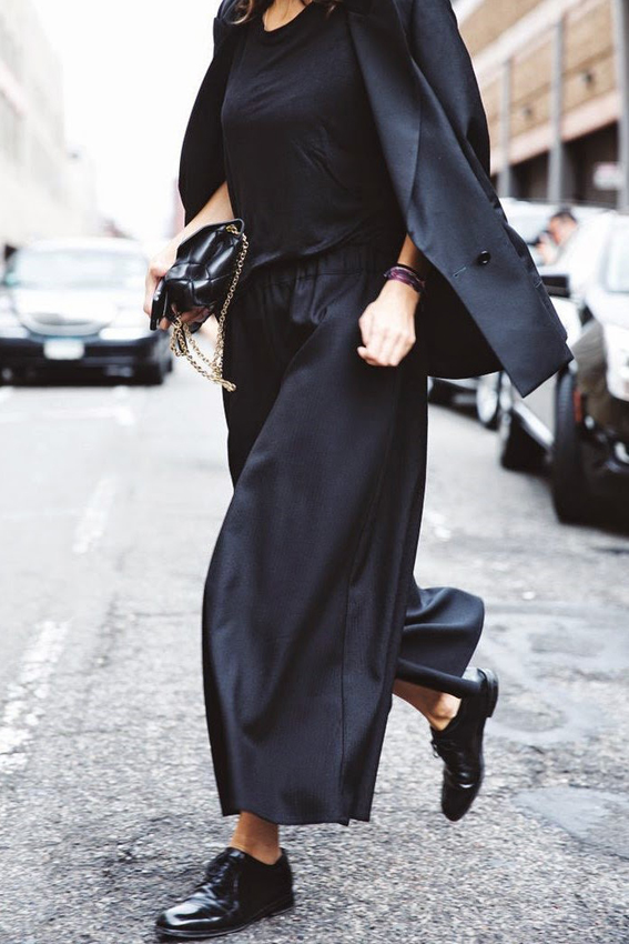 nyc,-fashion-week,-street-style,-culottes,-pants,-trousers,-black,-negro,-fashion,-moda,-trends,-fall-2014,-otoño-2014,-tendencias,-front-row-blog
