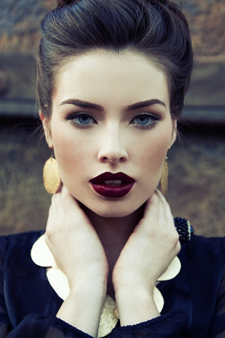 Deep-Red-Lipstick