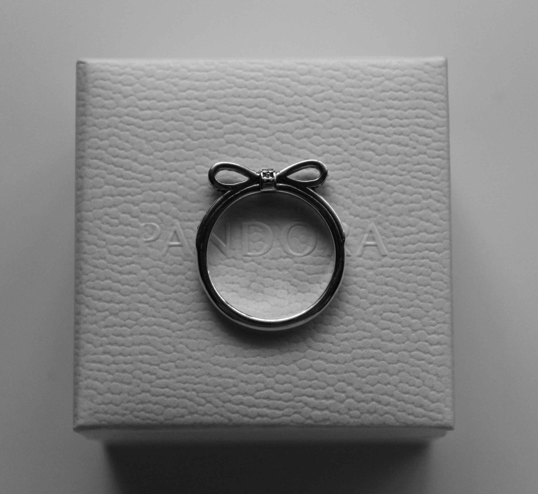anillo lazo deslumbrante pandora