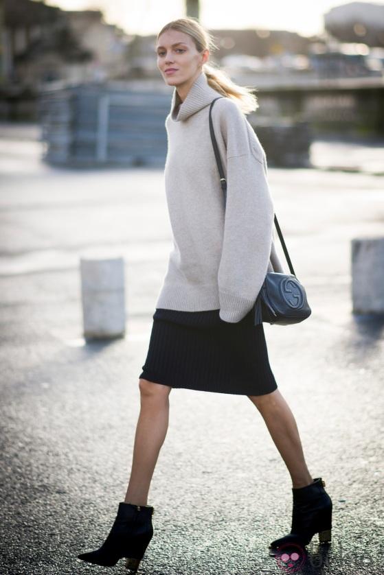 Street Style - Day 3 : Paris Fashion Week - Womenswear Fall/Winter 2014-2015