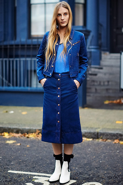 Rag-Bone-Pre-Fall-2015-buttoned skirts-faldas abotonadas-denim-70's-street style-front row blog