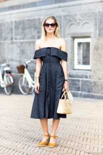 Le-Fashion-Blog-Street-Style-Retro-Inspired-Romantic-Summer-Look-Cat-Eye-Sunglasses-Off-The-Shoulder-Dress-Small-Nude-Bag-Orange-Espadrille-Wedge-Sandals-Via-Sandra-Semburg