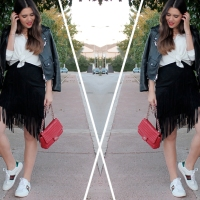 GUCCI SNEAKERS + FRINGE SKIRT